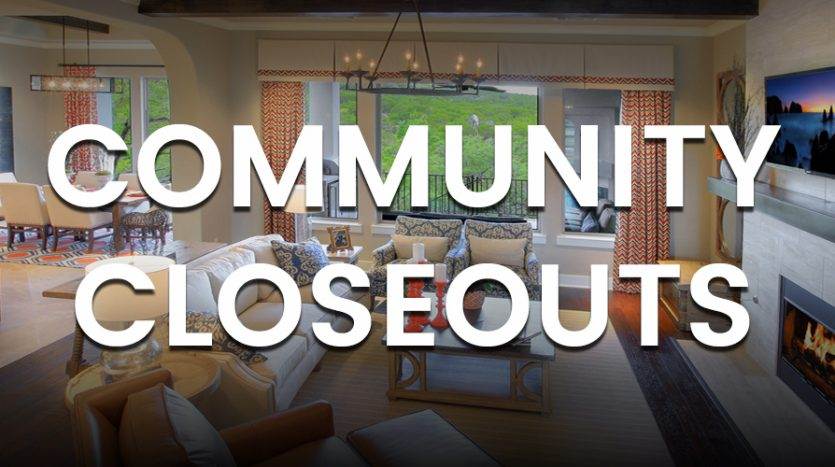 Community Closeouts
