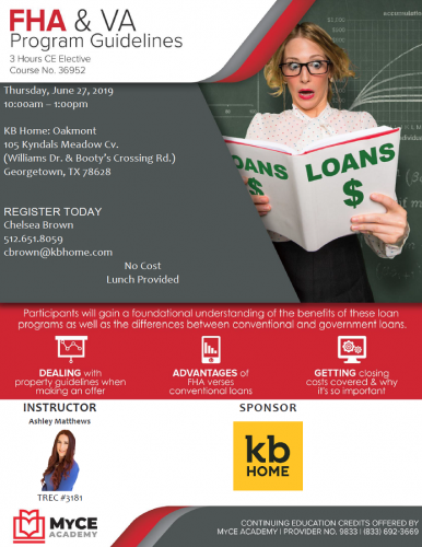 KB Home | FREE CE Elective @ Oakmont | Georgetown | Texas | United States