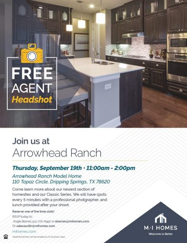 M/I Homes | Free Agent Headshot @ Arrowhead Ranch | Dripping Springs | Texas | United States