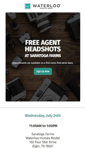 Brohn Homes | FREE AGENT HEADSHOTS @ Saratoga Farms | Elgin | Texas | United States