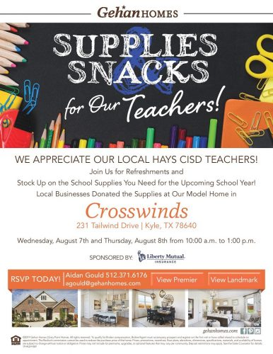 Gehan Homes   Supplies Snacks For Our Teachers @ Crosswinds   Kyle   Texas   United States