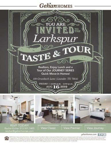 Gehan Homes   Taste & Tour @ Larkspur   Leander   Texas   United States