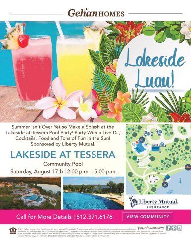 Gehan Homes   Lakeside Luau @ Lakeside at Tessera   Lago Vista   Texas   United States