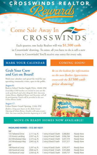 Gehan Homes + Highland Homes + Pacesetter Homes   Back To School Teacher Supply Drive @ Crosswinds   Kyle   Texas   United States