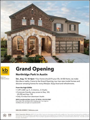 KB Home   Northridge Park Grand Opening @ Northridge Park   Austin   Texas   United States