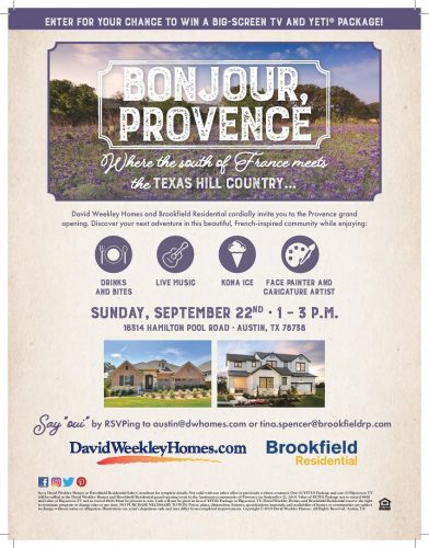 David Weekley Homes And Brookfield Residential | Provence Grand Opening At Texas Hill Country @ Provence | Austin | Texas | United States