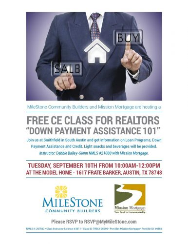 MileStone Community Builders And Mission Mortgage | Free CE Class For Realtors @ Smithfield | Austin | Texas | United States