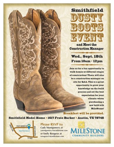 MileStone Community Builders | Dusty Boots Event @ Smithfield | Austin | Texas | United States