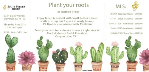 Scott Felder Homes | Plant Your Roots @  Hidden Trails | Bulverde | Texas | United States