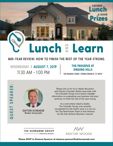 Ashton Woods Homes | Lunch and Learn @ The Preserve at Singing Hills | Spring Branch | Texas | United States