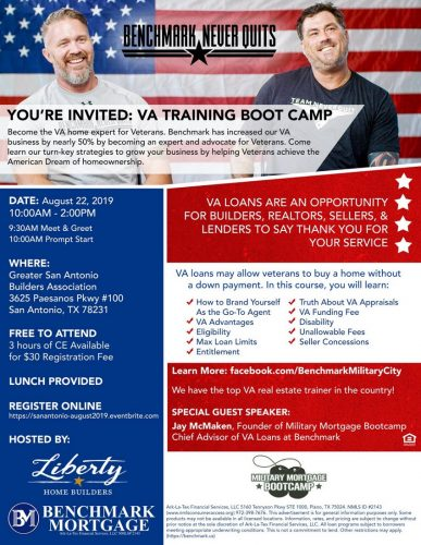 Liberty Home Builders | VA Training Boot Camp @ Greater San Antonio Builders Association | San Antonio | Texas | United States