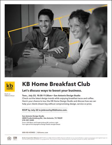 KB Home | Breakfast Club - Boost Your Business @ San Antonio Design Studio | San Antonio | Texas | United States