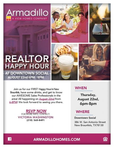 Armadillo Homes | Realtor Happy Hour @ Downtown Social | New Braunfels | Texas | United States