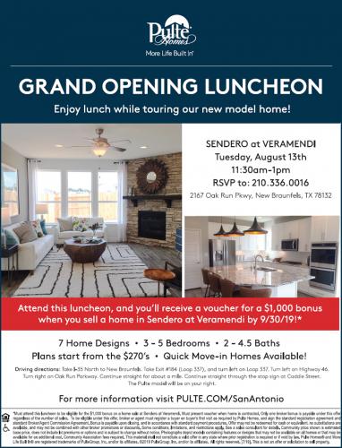 Pulte Homes   Sendero At Veramendi Grand Opening @ Sendero At Veramendi   New Braunfels   Texas   United States