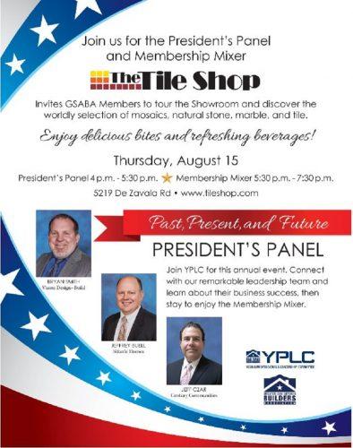 GSABA And YPLC   President's Panel & Networking Mixer @ The Tile Shop   San Antonio   Texas   United States