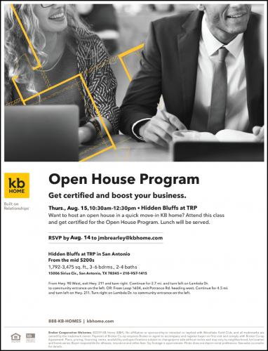 KB Home   Open House Program @ Hidden Bluffs at TRP   San Antonio   Texas   United States