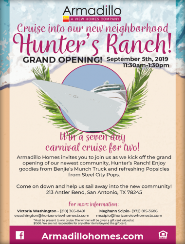 Armadillo Homes And Horizon View Homes | Hunter's Ranch Grand Opening @ Hunter's Ranch | San Antonio | Texas | United States